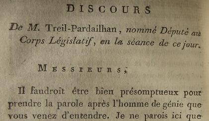 Election de Thomas Treil-Pardailhan, député de Paris, en 1791